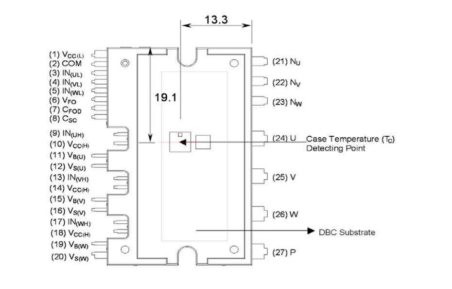 FSBB30CH60C: Motion SPM® 3 系列